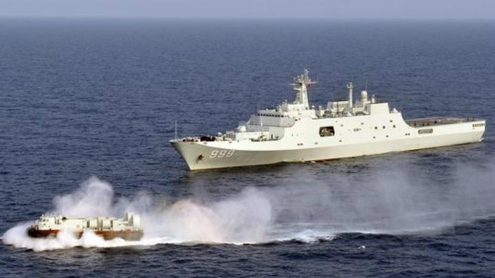 China's navy conducting drills in the South China Sea. 2013.